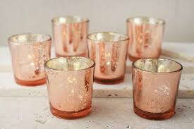30 rose gold mercury blush glass votive candle holders bulk lot wedding pink lighting ceremony tablescape reception decor event party
