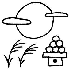 十五夜のイラスト満月と月見団子 ゆるかわいい無料イラスト素材集