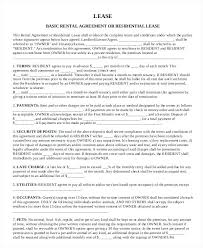 Apartment Lease Agreement Template Basic Rental Lease Agreement Form ...