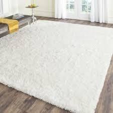 Delighful Fluffy White Area Rug Handtufted X Intended Impressive Ideas