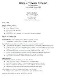 Teaching Resume For New Teacher Resume Example Teaching Cover
