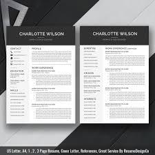 Instant Download The Charlotte Resume Resumedesignco Com