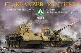 """1:35 Flakpanzer Panther """"Coelian"""" with 37mm Flakzwilling 341 & 20mm flakvierling mg151/20 2 in"""