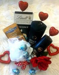 men dad valentine s gift basket lindt ghirardelli chocolates axe bath body set