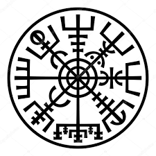 Vegvisir The Magic Compass Of Vikings Runic Talisman In The Ring