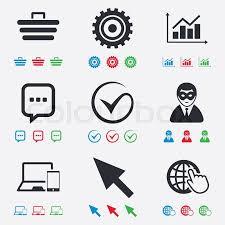 Internet Seo Icons Tick Online Stock Vector Colourbox