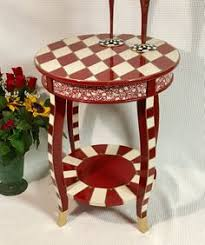 whimsical painted furnitureHand Painted Furniture Bistro  Pub Table with Gameboard