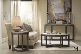 The solid concept behind this coffee table underlines the understated forms and the inherent qualities of wood, glass and marble. Mill Valley Round Coffee Table
