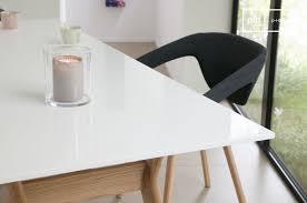 Table Scandinave Augstü - Table au plateau laqué blanc | pib