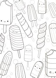 coloring pages cute. Brilliant Coloring Our Super Cute Kawaii And Yummy Adult Coloring Book For Coloring Pages Cute G