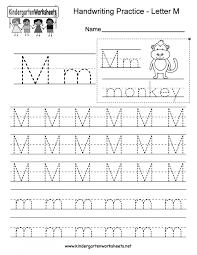 Kindergarten Handwriting Worksheets Wodotinsky Marc Example Of ...