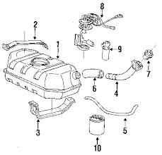 parts com® oldsmobile bravada fuel system components oem parts 1992 oldsmobile bravada base v6 4 3 liter gas fuel system components