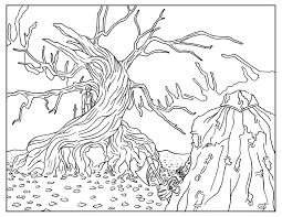 Sleepy Hollow Adult Book Page Movies Adult Coloring Pages