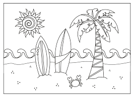 Summer coloring pages is a coloring page i like most of all. Free Printable Summer Coloring Pages For Kids