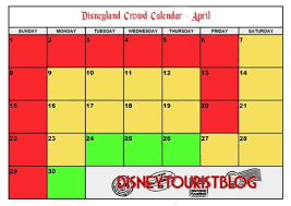 2019 Disneyland Crowd Calendar When To Visit Disney