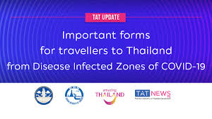 TAT update: important forms for travellers to Thailand from Disease  Infected Zones of COVID-19 - TAT Newsroom