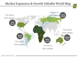Editable World Map For Powerpoint Market Expansion And Growth Editable World Map Ppt Model