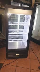 true gdm 10pt ld pass thru display refrigerator two glass door