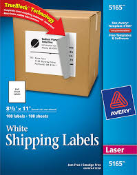avery sheet labels avery white shipping labels with trueblock technology 5165