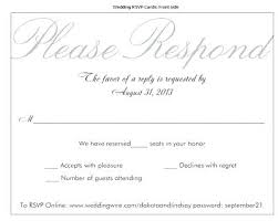 Reply Card Template 3 Entree Menu Choices Wedding Response Reply Card Template