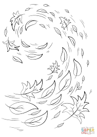 Small Picture Swirling Autumn Leaves coloring page Free Printable Coloring Pages