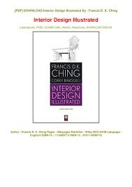 Interior Design Illustrated Third Edition Ebook Epub Interior Design Illustrated In Format E Pub