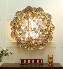 gold metal tansy big wall art by