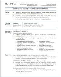 database resume sample