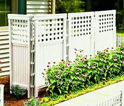 made in usa white uv resistant panel resin outdoor privacy screen hides garbage cans recyclables