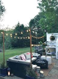 outdoor string light pole string light pole poles to hang string lights adding string lights exterior outdoor string light pole