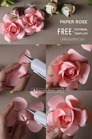 Rose Paper Flower Making Easy Tutorial To Make A Paper Rose Free Template