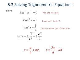 5 3 solving trigonometric equations