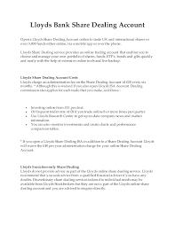 Lloyds Bank Share Dealing Account