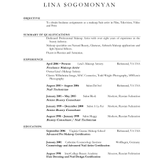 artist resume objective resume writing exles for makeup artists sle artist resume work experience