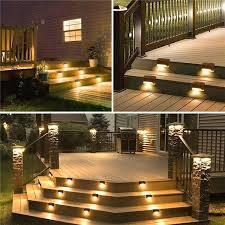 upgrade outdoor solar deck lights step