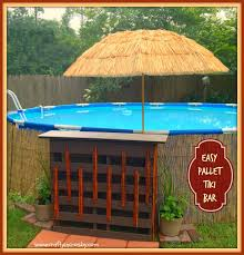 home pool tiki bar. Pool Made Out Of Pallets 26 With Home Tiki Bar