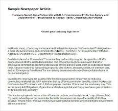 Newspaper Article Word Template Free 7 Newspaper Article Samples In Pdf Word Psd