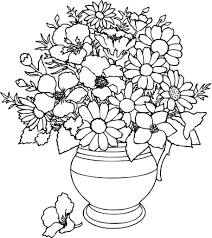 Small Picture Color Flower Pot Coloring Page Printable Kids Colouring Pages