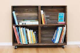 wood bookshelves made from crates wooden crate bookshelf ideas