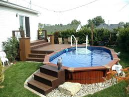 Pool Decks Above Ground For Foot Round Pools Patio