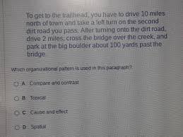 Topical Organizational Pattern Mesmerizing Which Organizational Pattern Is Used In This Paragraph Brainly