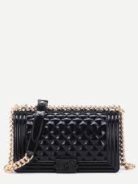 Mini Black Quilted Flap Jelly Bag With Chain EmmaCloth-Women Fast ... & Mini Black Quilted Flap Jelly Bag With Chain pictures Adamdwight.com