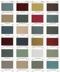 Mid America Shutters Color Chart Old Village Paint Colours Old Village Paint