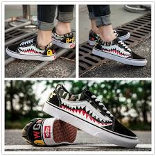 <b>Wen</b> Bape x Vans Customise SK8 HI Old Skool Sharktooth ...