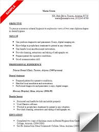 Ideas Of Dental Resume Template Excellent Dental Assistant Resume
