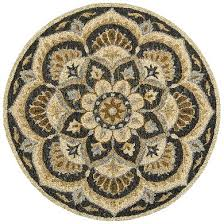 the new dazzle collection from lr resources introduces round rugs in 11 designs in 6 and 8 sizes in loop pile hand tufted of hand washed wool