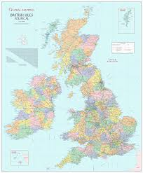british isles political large wall map  xyz maps