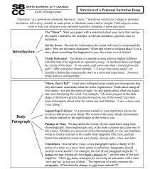 Personal Narrative College Essay Examples Structure Of A Personal Narrative Essay See Page 2 For A