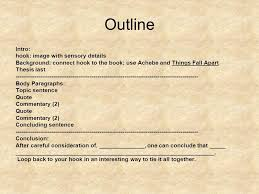 things fall apart essay notes ppt video online  7 outline
