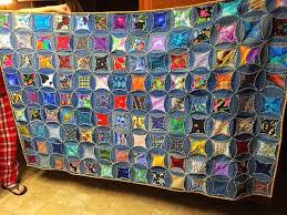 Here's a Quilt I Made From My Husband's Old Jeans | Hometalk & here s a quilt i made from my husbands old jeans, crafts, how to, Adamdwight.com